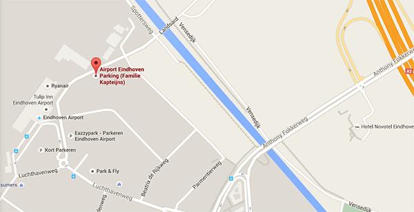 plattegrond-airport-eindhoven-parking