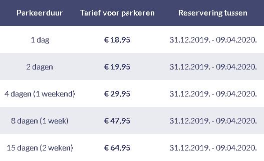 quick parking eindhoven tarieven